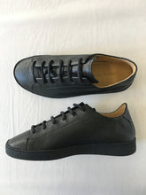 ORATE OFFICINE Pedro Leather Low-Top Trainer  -  BLACK (ON BLACK)