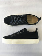ORATE OFFICINE José Leather Low-Top Trainer  -  BLACK (ON WHITE)