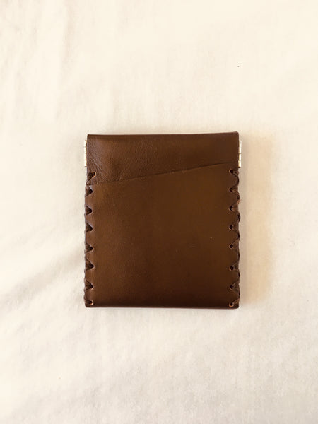 EARLYMADE Handmade Leather Coin Wallet - BROWN