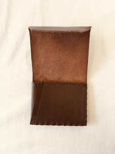 EARLYMADE Handmade Leather Wallet - BROWN - LAST PIECE