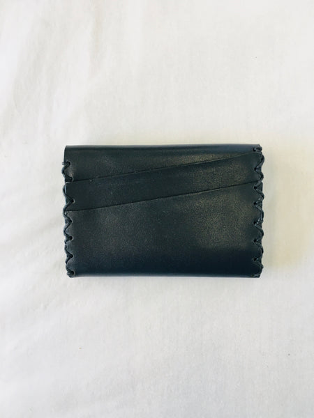 EARLYMADE Handmade Leather Wallet - BLUE - LAST PIECE