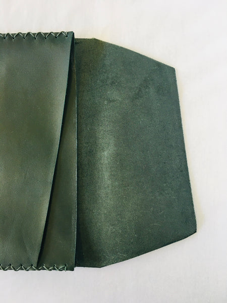 EARLYMADE Handmade Leather Portfolio - GREEN - LAST PIECE