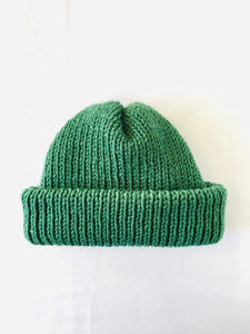 EARLYMADE Hand-knitted Hat - GREEN - LAST PIECE