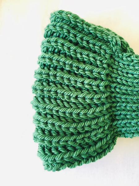 EARLYMADE Hand-knitted Head Band - GREEN - LAST PIECE