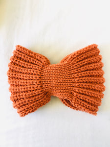 EARLYMADE Hand-knitted Head Band - ORANGE - LAST PIECE
