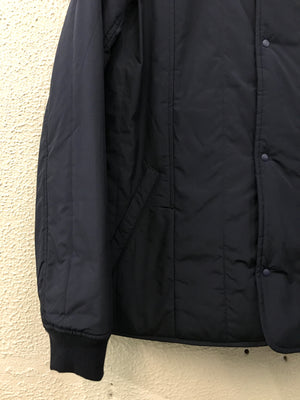 FOLK Reversible Wadded Collarless Jacket - NAVY - LAST PIECE