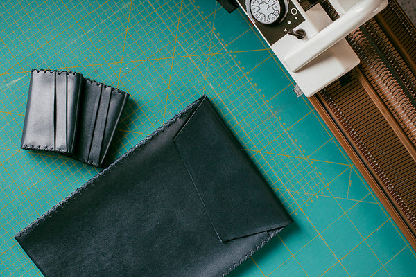 EARLYMADE Handmade Leather Portfolio - BLUE - LAST PIECE