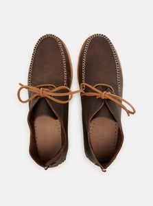 YOGI FOOTWEAR - Lucas Tumbled Leather Moccasin Vibram Boot - Brown - Handcrafted in Portugal