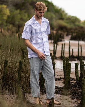 OUTLAND NOMAD PANTS - BLUE / GREY - Handcrafted in Portugal — LAST PIECE