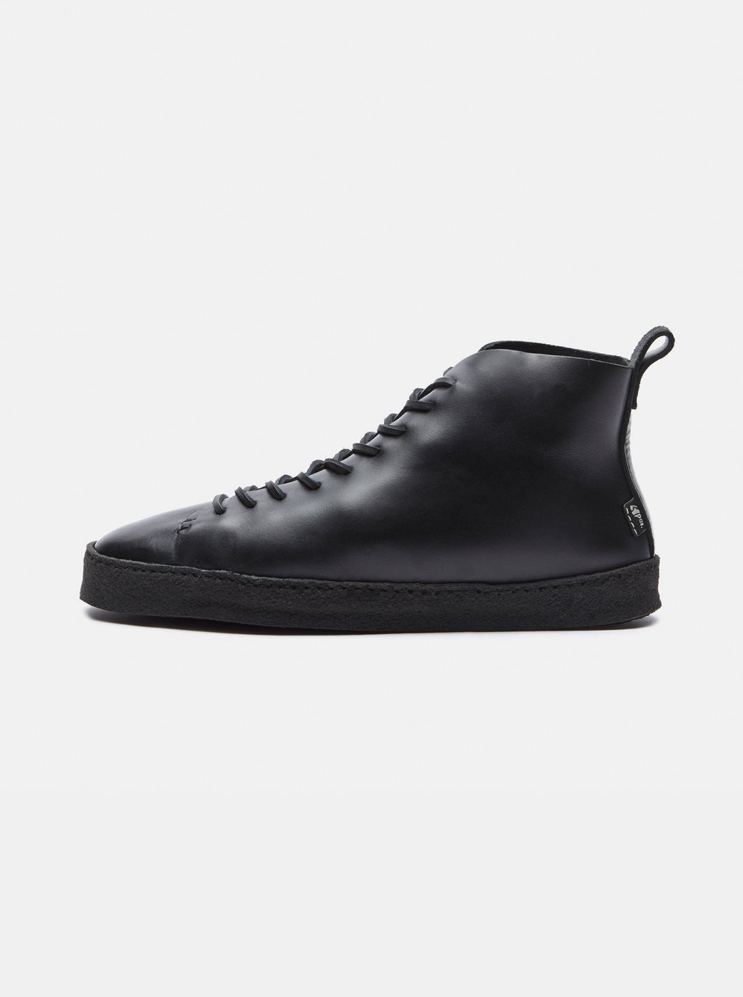 YOGI FOOTWEAR - Winstone Crepe Black Leather - Handcrafted in Portugal