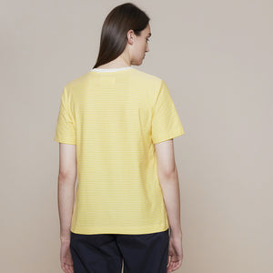 FOLK 1X1 Stripe Tee - LIGHT GOLD / ECRU - PORTUGUESE COTTON
