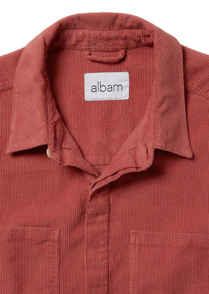ALBAM Cord Town Shirt - DUSTY CEDAR