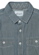 ALBAM Carpenter Work Shirt -  INDIGO STRIPE