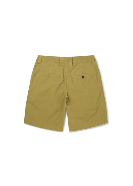 ALBAM GD Ripstop Pleated Shorts  - TOBACCO