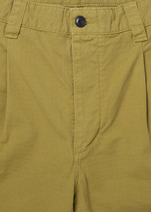 ALBAM GD Ripstop Pleated Shorts  - TOBACCO - LAST PIECE
