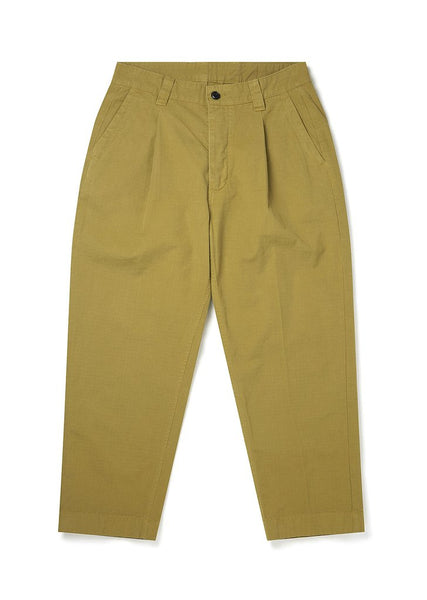 ALBAM GD Ripstop Pleated Trouser  - TOBACCO