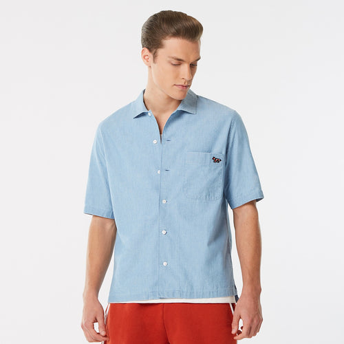 MAISON KITSUNÉ CHAMBRAY SHORT SLEEVE SHIRT