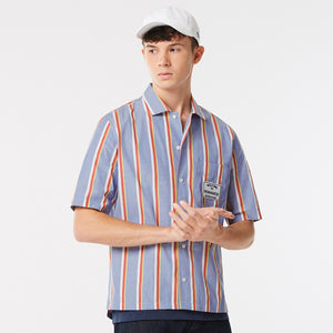 MAISON KITSUNÉ - STRIPES SHORT SLEEVES SHIRT - Multicolor