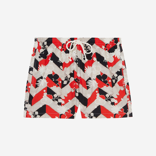 MAISON KITSUNÉ ALL-OVER VENICE SWIM SHORTS
