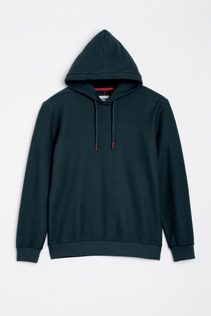 HOMECORE Artemis Waffle Cotton Hoodie - NAVY - LAST PIECE