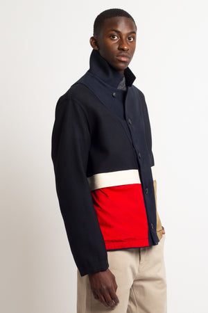 HOME CORE  Swit Light Wool Jacket — NAVY