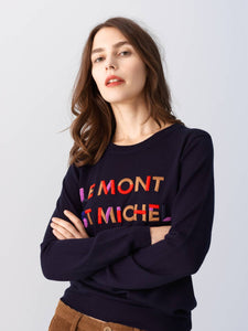 LE MONT S'MICHEL Embroidery Sweater