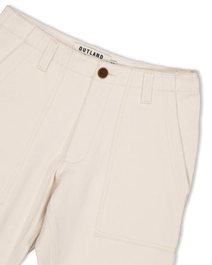OUTLAND Fatigue Twill Pants — OFF-WHITE