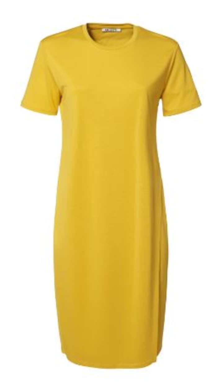 ANECDOTE Dace Lyocell T-shirt Dress - YELLOW — LAST PIECE