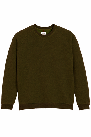 HOMECORE Terry Raglan Sleeve Sweater  — DARK KHAKI