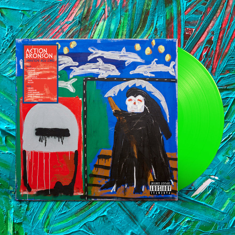 Action Bronson - Only For Dolphins Exclusive Fluorescent Green Vinyl Album LP_Record