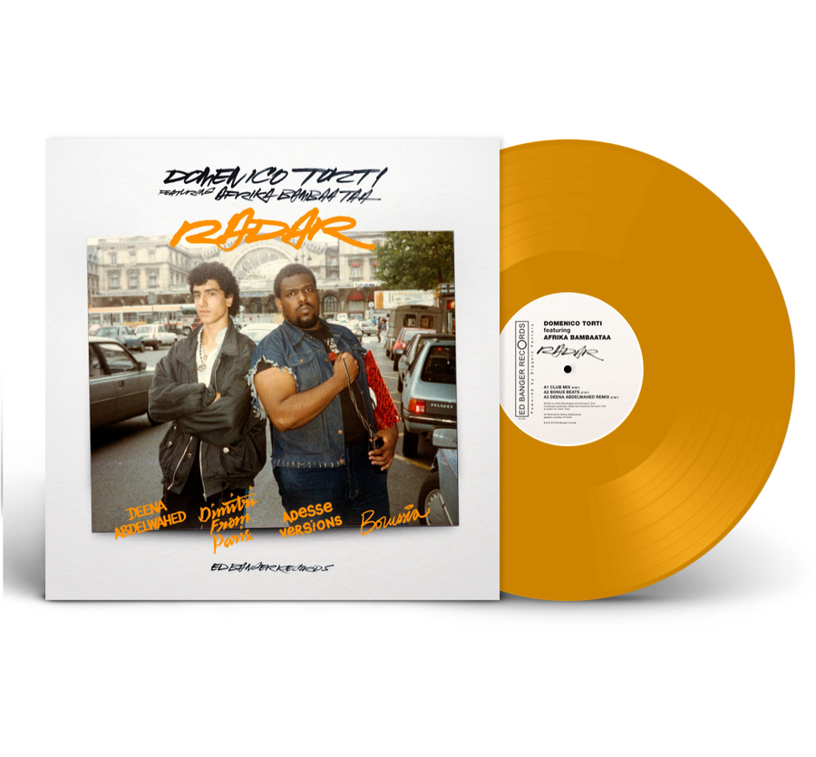 Domenico Torti Featuring Afrika Bambaataa Radar Exclusive Gold Color Vinyl Album Limited Edition Record #250 Copies