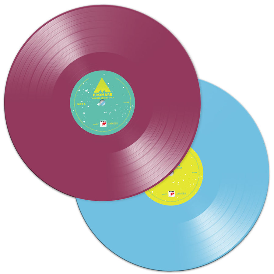 Promare Soundtrack Exclusive Limited Edition Purple & Light Blue 2x LP Vinyl Record