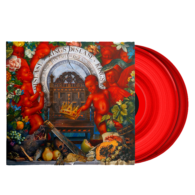 Nas - King's Disease Exclusive Red Color Vinyl 2LP Record Limited Edition Record