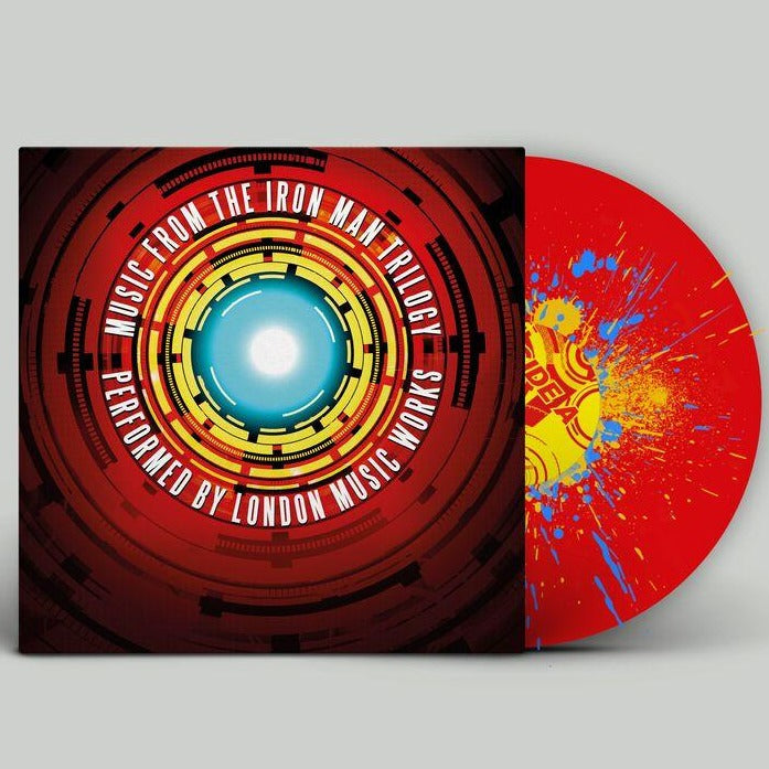 Music From the Iron Man Trilogy Exclusive 2LP Red Vinyl with Yellow & Blue Splatter