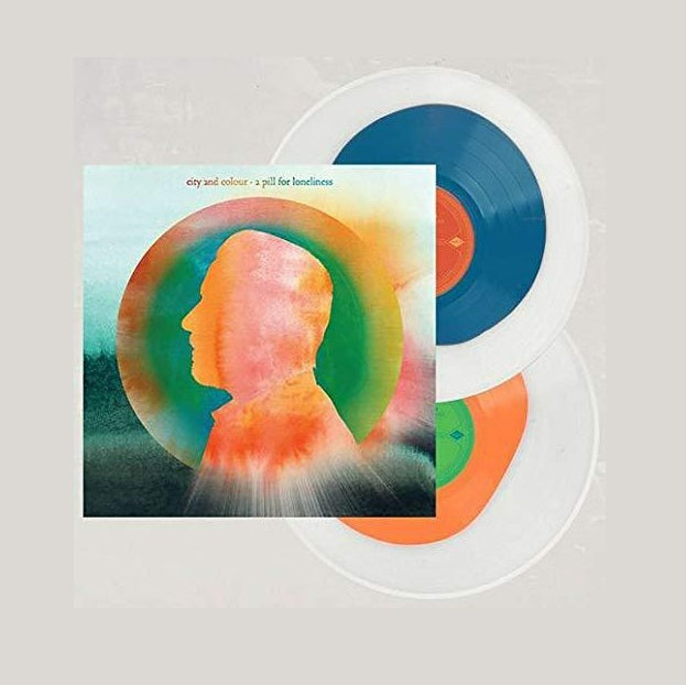 City And Colour - A Pill For Loneliness Exclusive Tangerine & Blue In Clear Colored 2x Vinyl VG+/NM