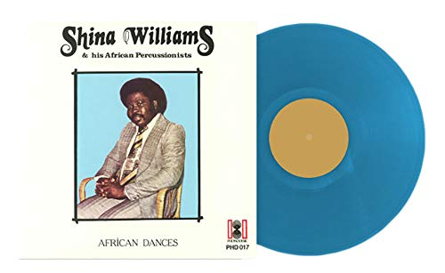 African Dances SHINA WILLIAMS & HIS AFRICAN PERCUSSIONISTS- Exclusive Transparent Cyan Vinyl