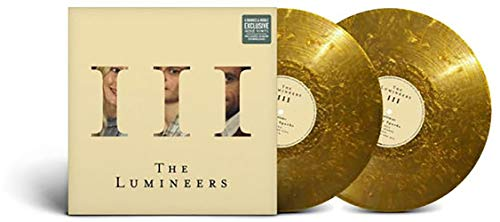 The Lumineers - III Exclusive Limited Edition Gold Flecked Colored Vinyl 2LP