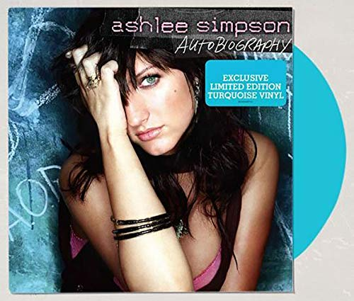 Autobiography - Exclusive Limited Edition Turquoise Color Vinyl LP #/3000  Ashlee Simpson VG+/NM