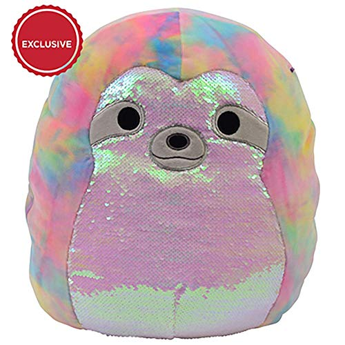 Squishmallow. Tie Dye Sequin Sloth Exclusive Soft Plush Stuffed Animal (18