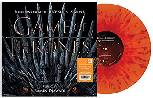 Game of Thrones: Selections from Season 8 - Exclusive Limited Edition Orange And Red Splatter Vinyl LP [Vinyl] Ramin Djawadi and Various Artists