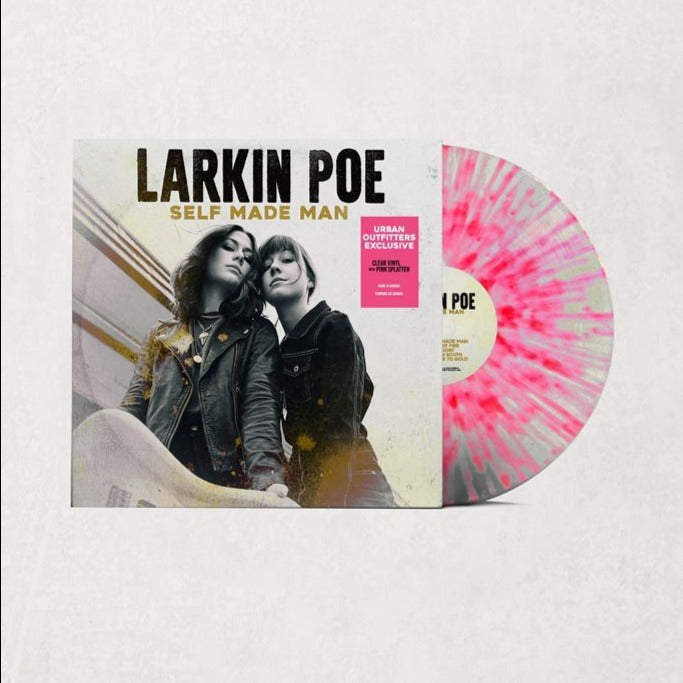 Larkin Poe - Self Made Man Exclusive limited Edition Pink Splatter Vinyl