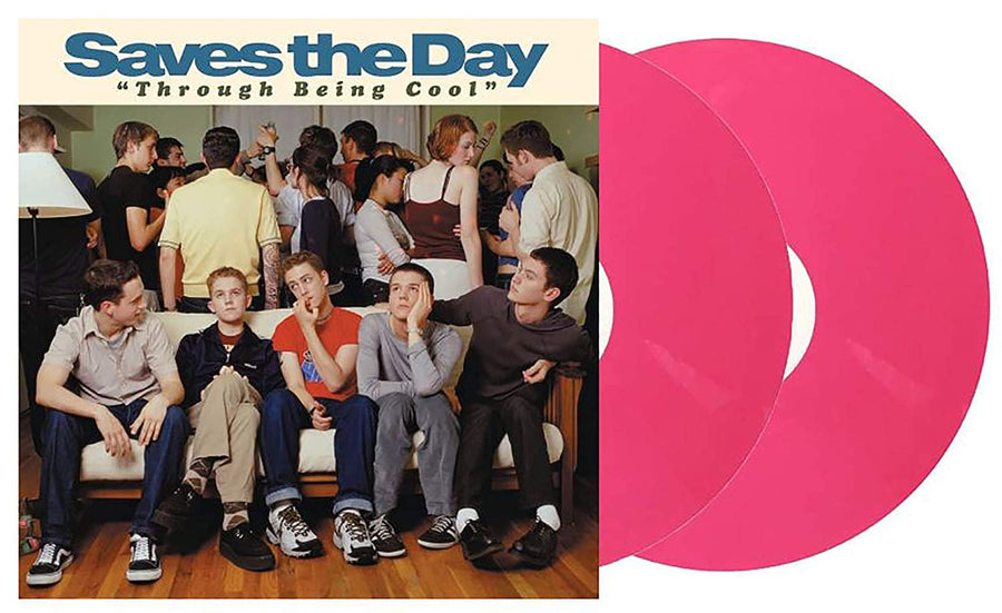 Saves The Day - Through Being Cool Exclusive Limited Breast Cancer Edition Pink Colored 2X Vinyl LP