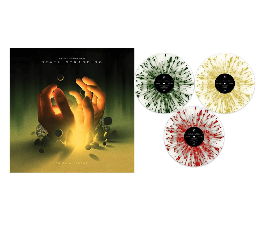 Death Stranding (Original Score) Exclusive Limited Edition Clear With Gold, Black & Red Splatter Colored 3x Vinyl LP