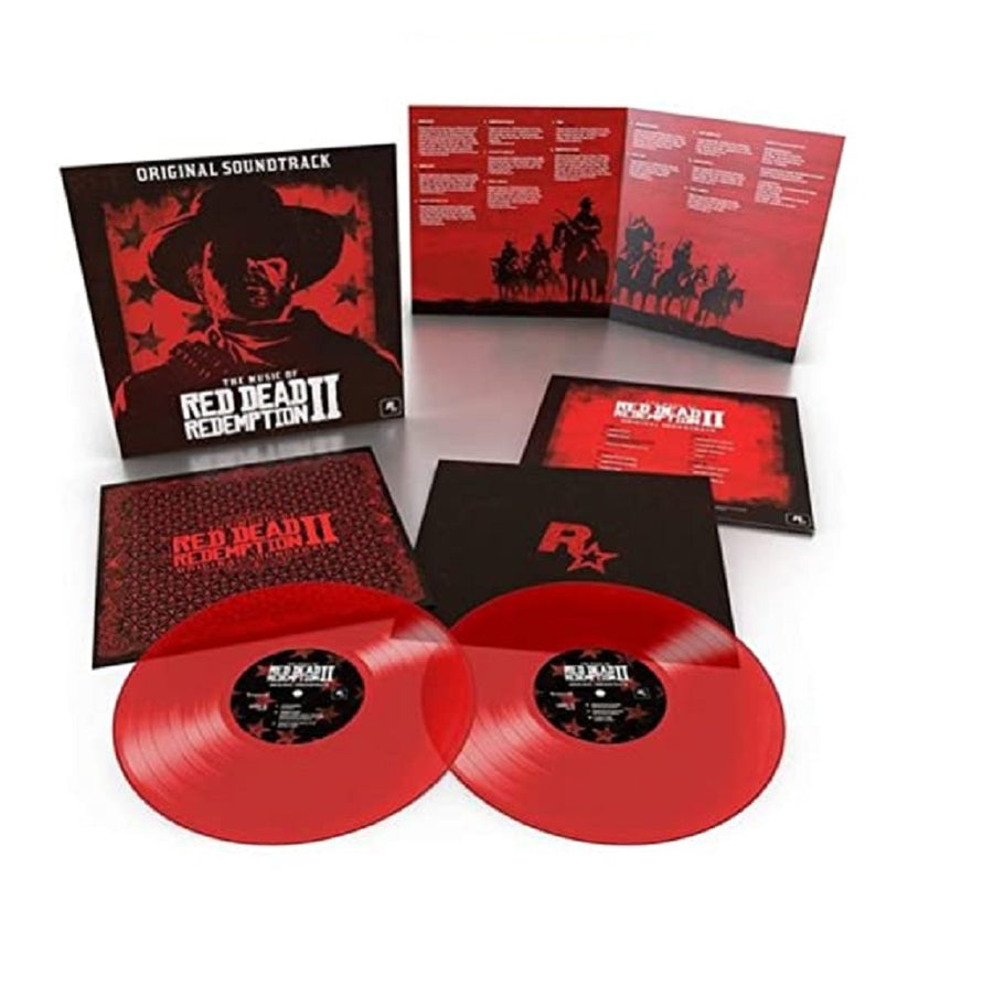 The Music of Red Dead Redemption 2 Translucent Red Color 2x LP Vinyl Record