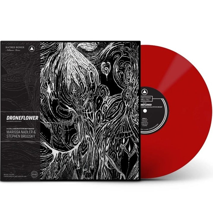 Marissa Nadler & Stephen Brodsky ‎– Droneflower Limited Edition Exclusive Red Color Vinyl