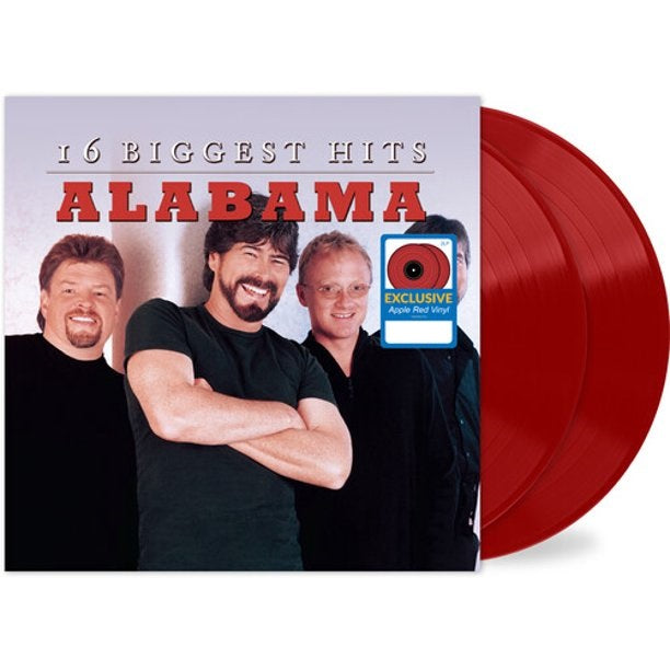 Alabama - 16 Biggest Hits Exclusive Apple Red Vinyl 2LP Record