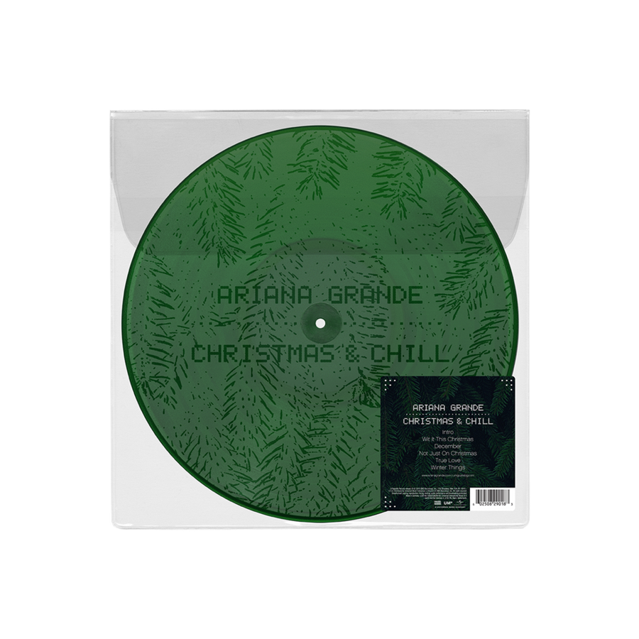 Ariana Grande ‎– Christmas & Chill Exclusive Dark Green With Etching Vinyl Limited Edition LP