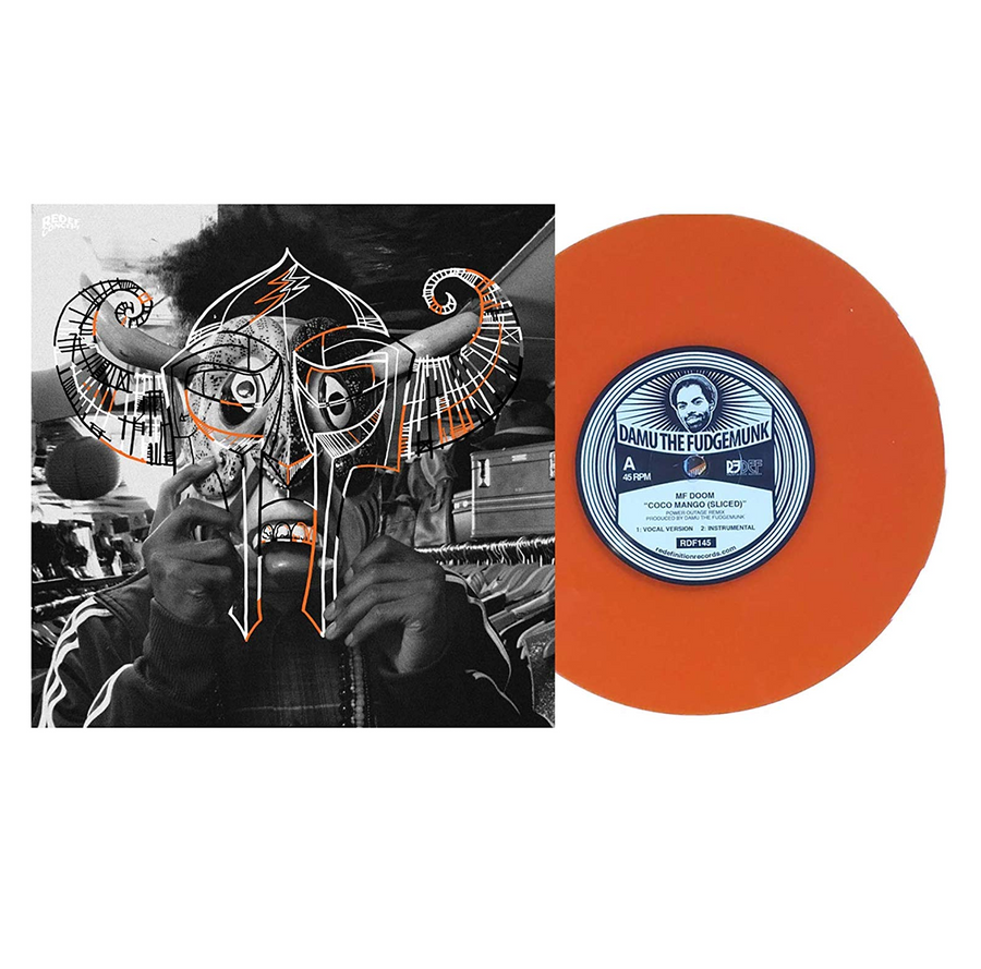 MF Doom - Coco Mango Exclusive Limited Edition Orange Colored 7