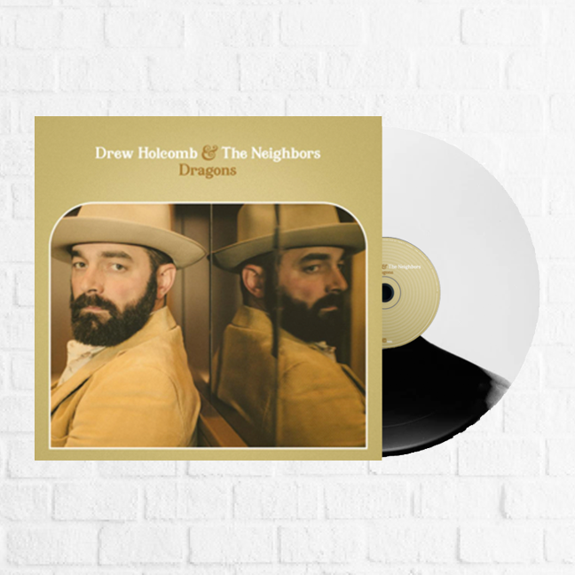 Drew Holcomb and the Neighbors - Dragons Exclusive Black and White vinyl Club Edition