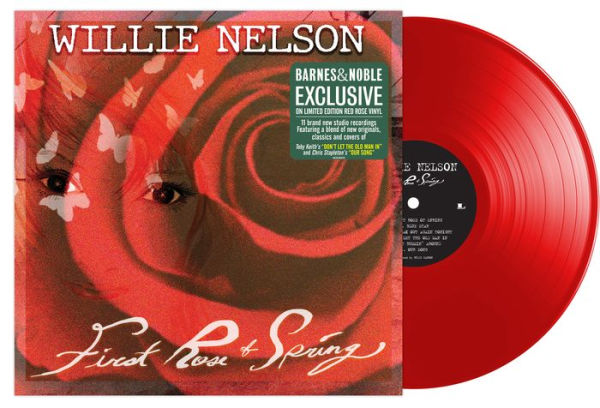 Willie Nelson - First Rose Of Spring Exclusive Red Rose Vinyl [Condition VG+NM]